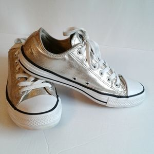 Converse All Star Gold Metallic Sneakers Size 9